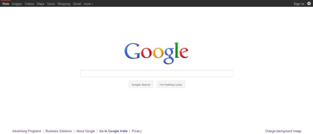 Home page got a new design and link navigation feature web sigmas - Google home page design ...