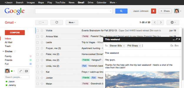 New email features in Gmail