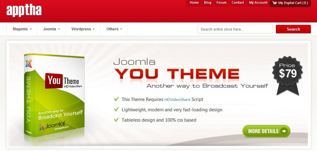 Apptha Joomla Template