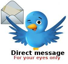 Direct message from Twitter