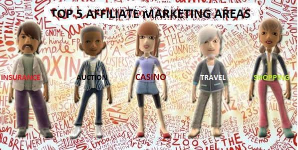 Top 5 affiliate marketing segments