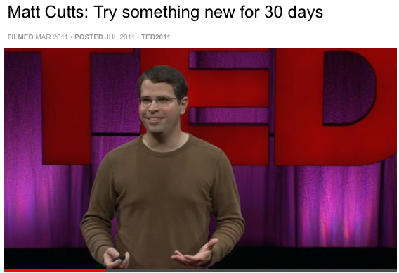 Matt Cutts 30days